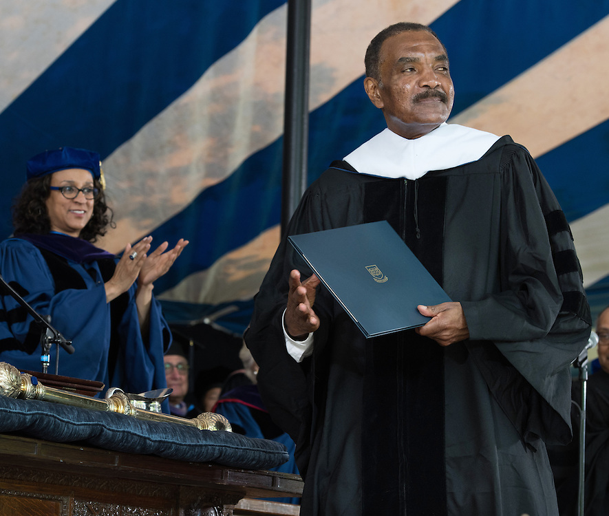 May 23, 2016 New Haven<br /> The Yale University commencement exercises. Honorary doctoral degree recipient Calvin Hill.