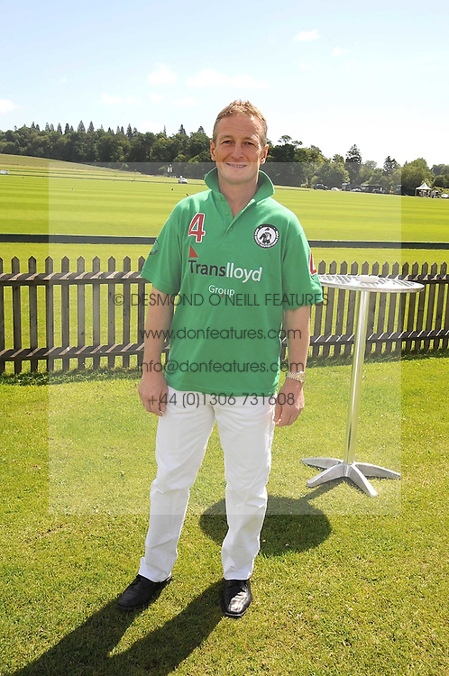 RICHARD DUNWOODY at a Pro-Celebrity Polo match in aid of the Mark Davies Injured Riders Fund Charity Day held at Cowdray Park, West Sussex on 22nd June 2008.<br />