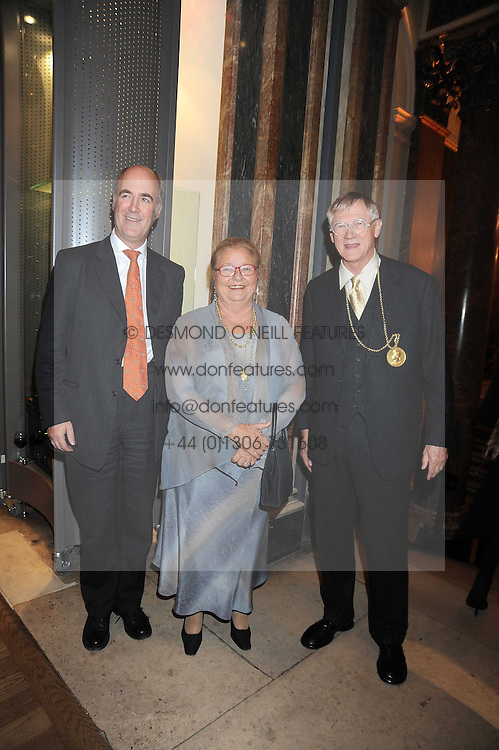 Left to right, CHARLES SAUMAREZ-SMITH, AIMILIA YEROULANOU President of the board of Trustees and SIR NICHOLAS GRIMSHAW President of the Royal Academy at the opening of the Royal Academy of Arts Byzantium 330-1453 exhibition held at the RA, Burlington House, Piccadilly, London on 21st October 2008.
