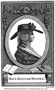Hannah More (1745-1833) English religions writer, poet and playwright. Member of Blue Stocking Circle of learned intelligent women. Engraving of ore  as young woman.