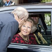 NLD/Hilversum/20180829 -   Prinses Beatrix bij Genootschap van Engelandvaarders, Prinses Beatrix neemt afscheid van Rudi Hemmen