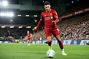 Liverpool midfielder Alex Oxlade-Chamberlain (15) during the EFL Cup match between Liverpool and Arsenal at Anfield, Liverpool, England on 30 October 2019.
