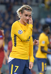 September 12, 2017 - Rome, Lazio, Italy - Antoine Griezmann during the UEFA Champions League group C football match AS Roma vs Atletico Madrid FC at the Olympic Stadium in Rome, on september 12, 2017. (Credit Image: © Silvia Lore/NurPhoto via ZUMA Press)