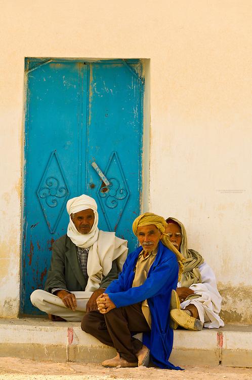 Local men in Ksar Ouled Soltane, Tunisia