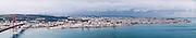 Lisbon, November 2012. Panoramic view of Lisbon from the opposite side of Tagus Estuary.