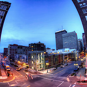 From a garage at 10th and Wyandotte, downtown Kansas City, Missouri.