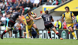 Dean Hammond of Worcester Warriors runs with the ball at Alex Goode of Saracens - Mandatory by-line: Robbie Stephenson/JMP - 03/09/2016 - RUGBY - Twickenham - London, England - Saracens v Worcester Warriors - Aviva Premiership London Double Header