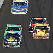 Sprint Cup Series driver AJ Allmendinger (43) leads the packs of 2 as they race during the Daytona 500 at Daytona International Speedway on February 20, 2011 in Daytona Beach, Florida. (AP Photo/Alex Menendez)