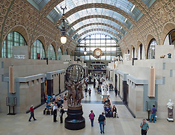 Interior of Musee d'Orsay in Paris France