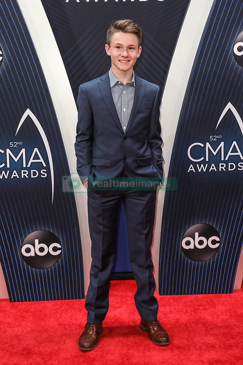 52nd Annual Country Music Association Awards hosted by Carrie Underwood and Brad Paisley and held at the Bridgestone Arena on November 14, 2018, in Nashville, TN. © Curtis Hilbun / AFF-USA.com. 14 Nov 2018 Pictured: Carson Peters. Photo credit: Curtis Hilbun / AFF-USA.com / MEGA TheMegaAgency.com +1 888 505 6342