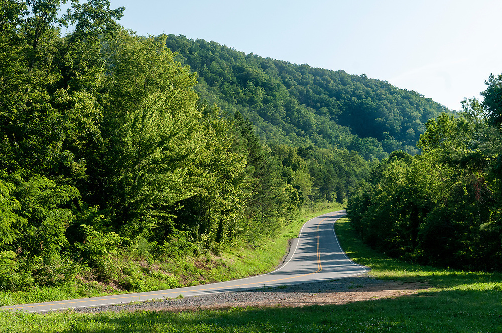 Road winding along the mountain at the High Top Overlook on the Foothills Parkway in Great Smoky Mountains National Park in Wears Valley, Tennessee on Wednesday, August 12, 2020. Copyright 2020 Jason Barnette