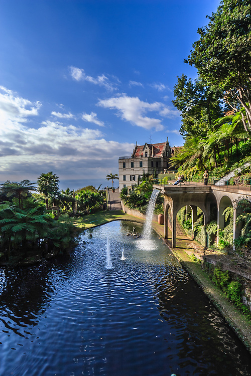 Monte Palace Tropical Garden in Madeira, Portugal. Former private estate and Palace Hotel gives breathtaking views of Funchal and the natural surroundings.