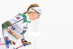 February 9, 2019 - Lahtis, FINLAND - 190209  Evelina Settlin of Sweden competes in the women's sprint qualification during the FIS Cross-Country World Cup on February 9, 2019 in Lahti..Photo: Johanna Lundberg / BILDBYRN / 135946 (Credit Image: © Johanna Lundberg/Bildbyran via ZUMA Press)