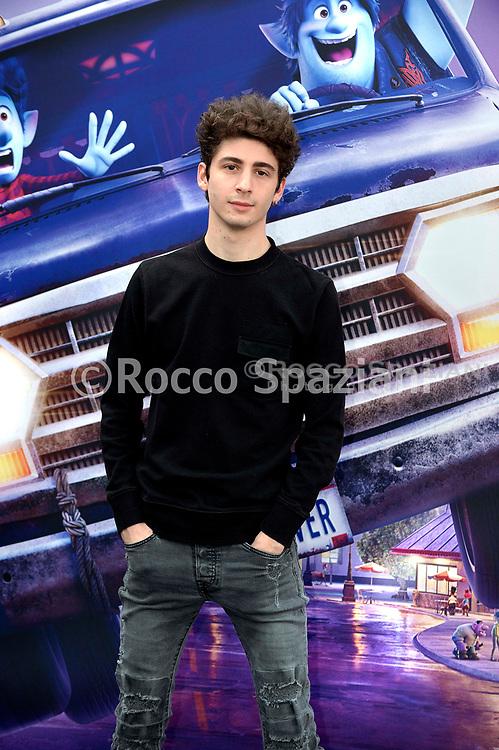 Favij during photocall for the presentation of the Disney cartoon Pixar Onward. Rome (Italy), February 25th, 2020