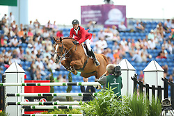 Bruynseels Niels, (BEL), Pommeau Du Heup<br /> Team Competition round 1 and Individual Competition round 1<br /> FEI European Championships - Aachen 2015<br /> © Hippo Foto - Stefan Lafrentz<br /> 19/08/15