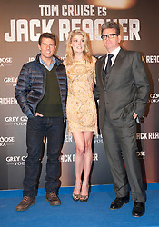 Tom Cruise, Rosemound Pike and Christopher McQuarrie during the Premiere of the movie 'Jack Reacher', Callao Cinema. Madrid. Spain, December 13, 2012. Photo by Eduardo Dieguez / DyD Fotografos / i-Images...SPAIN OUT