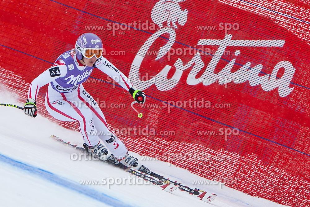 19.01.2011, Tofana, Cortina d Ampezzo, ITA, FIS World Cup Ski Alpin, Lady, Cortina, Abfahrt 1. Training, im Bild Michaela Kirchgasser (AUT, #39) // Michaela Kirchgasser (AUT) during FIS Ski Worldcup ladies downhill first training at pista Tofana in Cortina d Ampezzo, Italy on 19/1/2011. EXPA Pictures © 2011, PhotoCredit: EXPA/ J. Groder