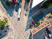 Aerial photograph of State Street, Madison, Wisconsin, USA.