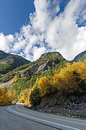 Fall on the North Cascades Highway(SR 20) in North Cascades National Park, Washington State, USA