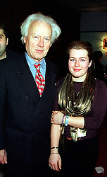 LORD MOYNE and his daughter the HON.DIANA GUINNESS, at a party in London on 26th January 2000.OAJ 50