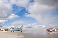 Photo Randy Vanderveen<br /> Grande Prairie, Alberta<br /> 2020-09-21<br /> Ceremony honouring last flight by Air Canada Pilot Capt. Mark Proulx into Grande Prairie airport after 31 years.