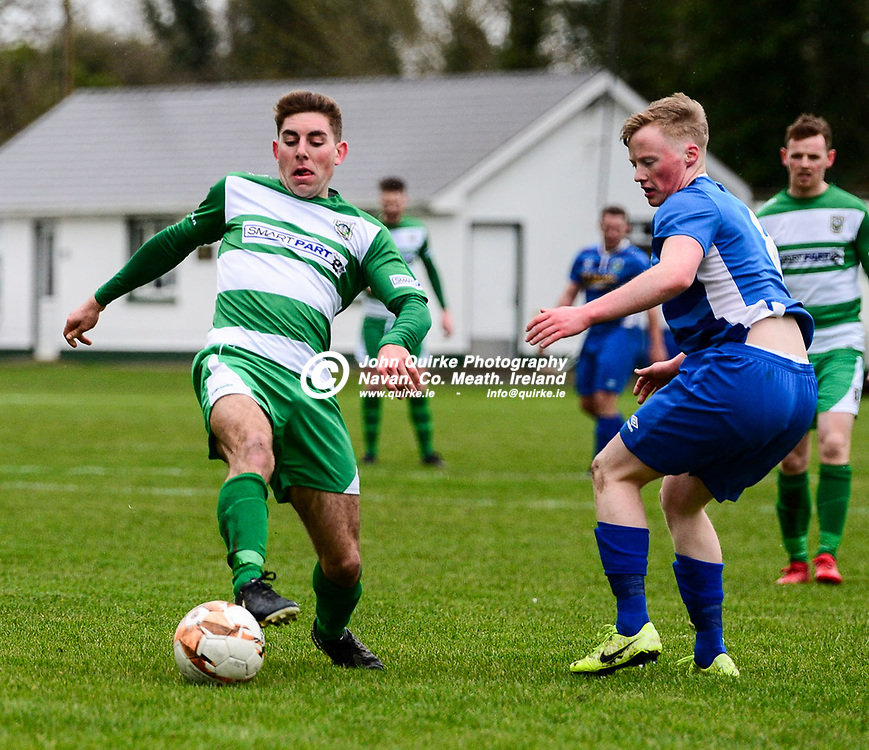 Cillian Corcoran shows grea skill fro Trim Celtic    in the Trim Celtic v Bluebell Utd, Leinster Junior Cup match in Trim<br /> <br /> Photo: GERRY SHANAHAN-WWW.QUIRKE.IE<br /> <br /> 08-02-2020
