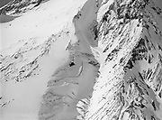 9969-7092. Aerial view close-up of upper part of White River Glacier on Mt. Hood. September 10, 1947.