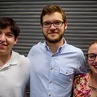 Abraham Guimares, left, Neil Wallace and Baillie Bronner are part of the UNM-Gallup GIMC medical student program.