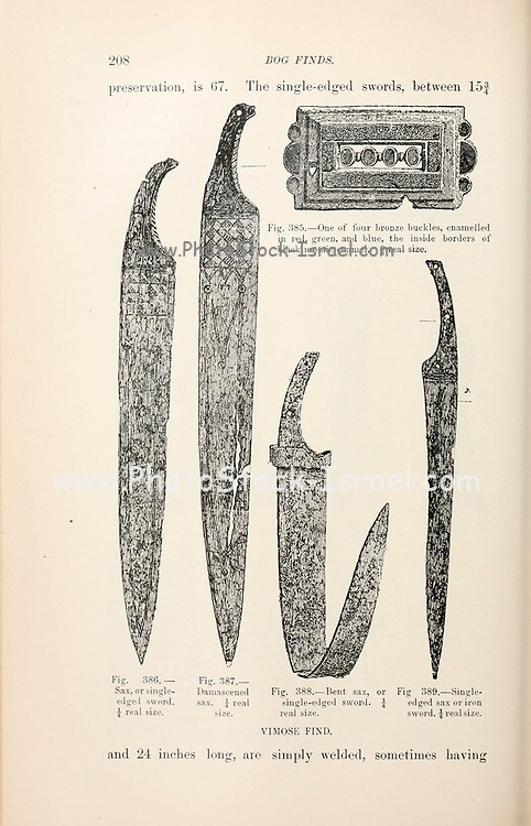 Iron Sword blades from the book '  The viking age: the early history, manners, and customs of the ancestors of the English speaking nations ' by Du Chaillu, (Paul Belloni), 1835-1903 Publication date 1889 by C. Scribner's sons in New York,