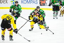 02.11.2014, Hala Tivoli, Ljubljana, SLO, EBEL, HDD Telemach Olimpija Ljubljana vs UPC Vienna Capitals, 16. Runde, in picture Matt Watkins (UPC Vienna Capitals, #10) vs Tom Zanoski (HDD Telemach Olimpija, #10) during the Erste Bank Icehockey League 16. Round between HDD Telemach Olimpija Ljubljana and UPC Vienna Capitals at the Hala Tivoli, Ljubljana, Slovenia on 2014/11/02. Photo by Matic Klansek Velej / Sportida