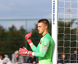 October 3, 2018 - London, England, United Kingdom - Enfield, UK. 03 October, 2018.Arnau Tenas of FC Barcelona.during UEFA Youth League match between Tottenham Hotspur and FC Barcelona at Hotspur Way, Enfield. (Credit Image: © Action Foto Sport/NurPhoto/ZUMA Press)