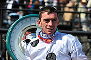 27 March 2010 : Brian Crowley is all smiles after taking the Woodward Kirkover hurdle race at the Carolina Cup.