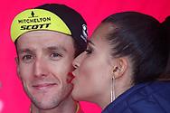 Podium Simon Yates (GBR - Mitchelton - Scott) during the 101th Tour of Italy, Giro d'Italia 2018, stage 10, Penne - Gualdo Tadino 239 km on May 15, 2018 in Italy - Photo Luca Bettini / BettiniPhoto / ProSportsImages / DPPI
