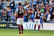 John Terry, the Aston Villa captain looks on. EFL Skybet championship match, Cardiff city v Aston Villa at the Cardiff City Stadium in Cardiff, South Wales on Saturday 12th August 2017.<br /> pic by Andrew Orchard, Andrew Orchard sports photography.