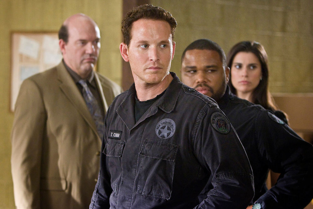 John Carroll Lynch as Captain James Embry, Cole Hauser as Trevor Cobb, Anthony Anderson as Marlin Boule and Milena Govich as D.A. Lyndsey Swann in Fox Television's 'K-Ville' - a police drama set in New Orleans after Hurricane Katrina.