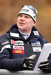 Head Coach Ari-Pekka Nikkola at Slovenian National Championship in Ski Jumping on February 12, 2008 in Kranj, Slovenia . (Photo by Vid Ponikvar / Sportal Images).