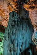 Vietnam Hang Dau Go (Wooden stakes cave) is the largest grotto in the Hạ Long area Its three large chambers contain large numerous stalactites and stalagmites