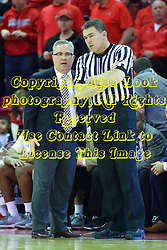 08 February 2018:  Barry Hinson & Paul Janssen during a College mens basketball game between the Southern Illinois Salukis and Illinois State Redbirds in Redbird Arena, Normal IL