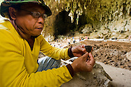 Pottery sherd recovered from modern human layers in Liang Bua cave, discovery site of the Flores hobbit, Homo floresiensis
