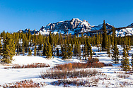 The Absaroka Mountains in winter from the Upper Lamar Valley.