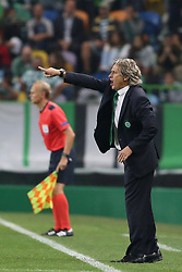 October 31, 2017 - Lisbon, Portugal - Sporting's head coach Jorge Jesus from Portugal gestures during the UEFA Champions League football match Sporting CP vs Juventus at the Alvalade stadium in Lisbon, Portugal on October 31, 2017. (Credit Image: © Pedro Fiuza/NurPhoto via ZUMA Press)