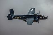 "B-25 (PBJ-1J) Mitchell Bomber ""Semper Fi"" at California Capital Airshow in Sacramento."