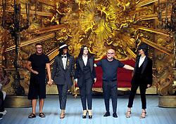 Male Fashion, Parade of Dolce and Gabbana, Domenico Dolce, Stefano Gabbana, Naomi Campbell and Monica Belluccim Marpessa