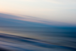 abstract of the ocean in Montauk, NY