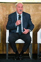 """Spainsh Vicente del Bosque during the presentation of """"Dia Cero"""" the new tv show of Moviestar #0 at Telefonica Store in Madrid, Spain. October 20, 2016. (ALTERPHOTOS/Rodrigo Jimenez)"""