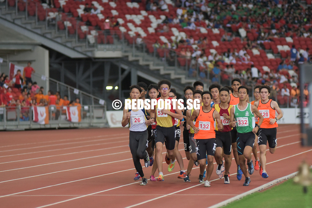 Dave Tung finally claimed St. Joseph's Institution's first and solitary gold this year in the B boys' 1500m final. Story: https://www.redsports.sg/2017/05/03/syed-hussein-vjc-dave-tung-sji/