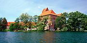 Lakeside view of Trakai Castle