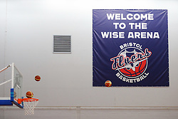 General View as Bristol Flyers warm up before the match - Photo mandatory by-line: Rogan Thomson/JMP - 07966 386802 - 13/02/2015 - SPORT - BASKETBALL - Bristol, England - SGS Wise Arena - Bristol Flyers v Surrey United - BBL Championship.