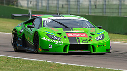 April 29, 2018 - Imola, Italy - Antonelli Motorsport (Vedel/Veglia), second placed during Race 2 of the first round of Italian GT Championship in Imola, here entering Tosa turn (Credit Image: © Riccardo Righetti via ZUMA Wire)