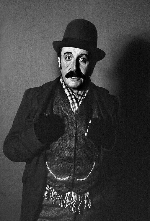 British actor Peter Sellers seen in costume for the film 'The Prisoner of Zenda' during filming in Austria, 1978. Photographed by Terry Fincher